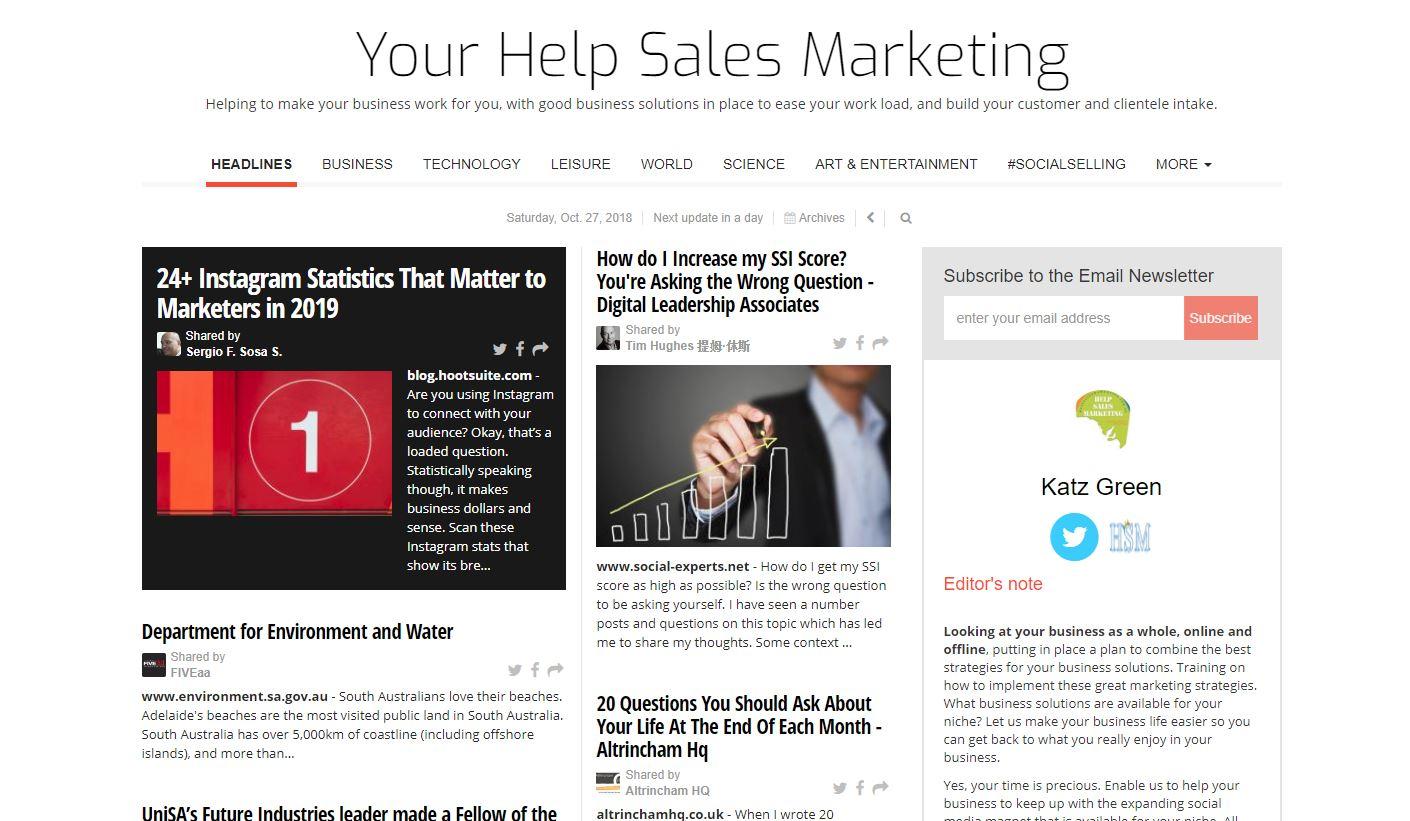 HSM Newspaper Help Sales Marketing for business